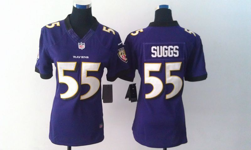 Womens Baltimore Ravens 55 Terrell Suggs Purple Nike Jerseys ... 70e157b26