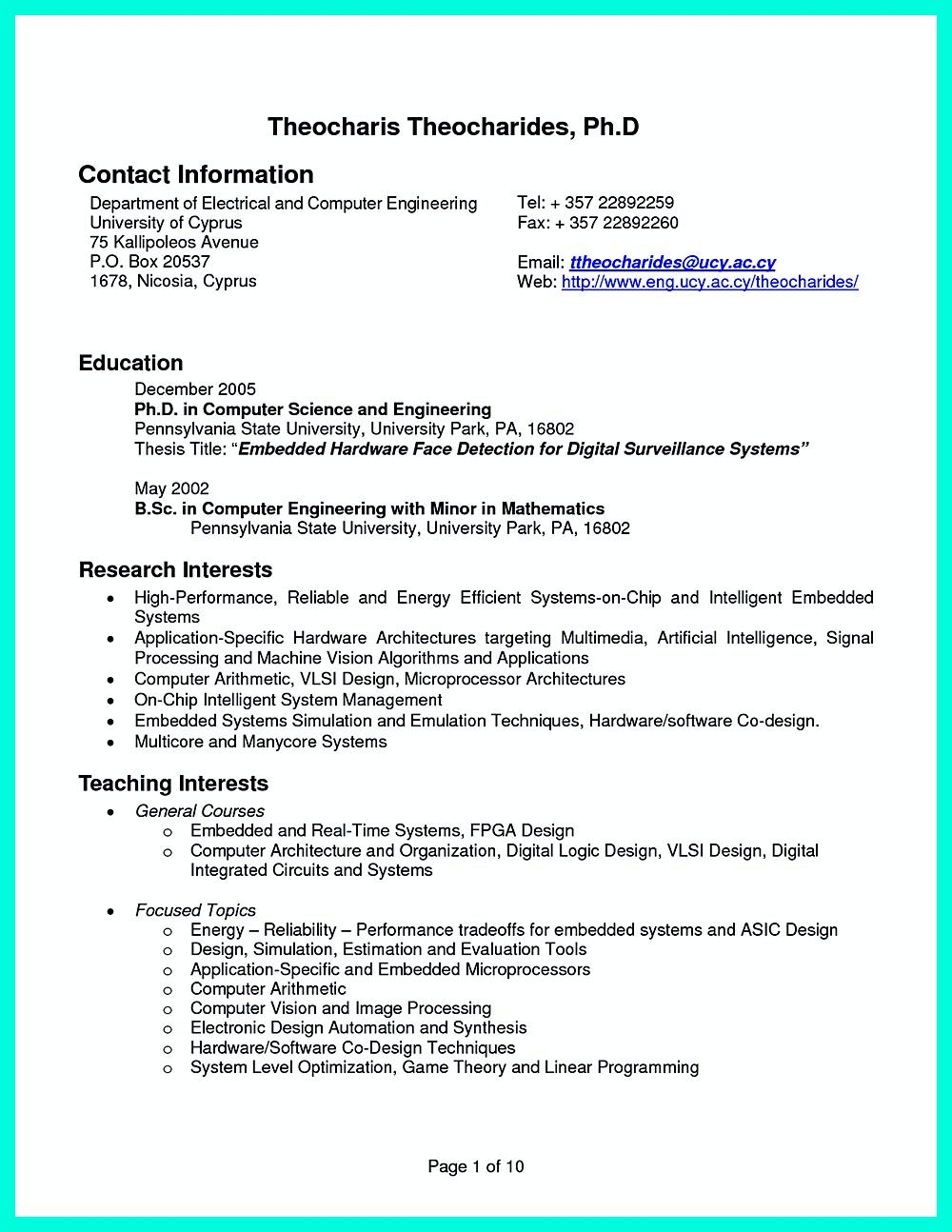 Computer Engineer Resume Computer Engineering Resume Includes The Skill In The It Field You