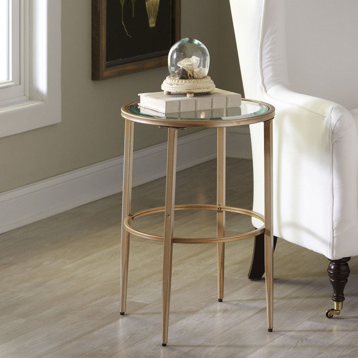 Nash Round Side Table Birch Lane Birch And Rounding - Wayfair glass side table