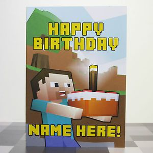 graphic about Minecraft Birthday Card Printable identify Minecraft+Content+Birthday+Card+Printable jan Pleased