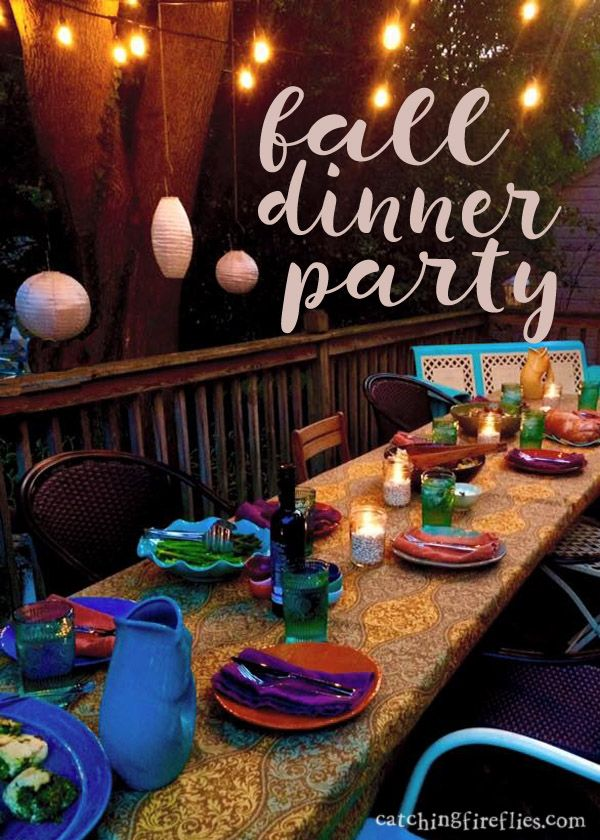 Dinner Party Gift Ideas Part - 31: Dining Under October Skies | Creative Gift Ideas | Fall Dinner Party Menu |  Fall Dinner