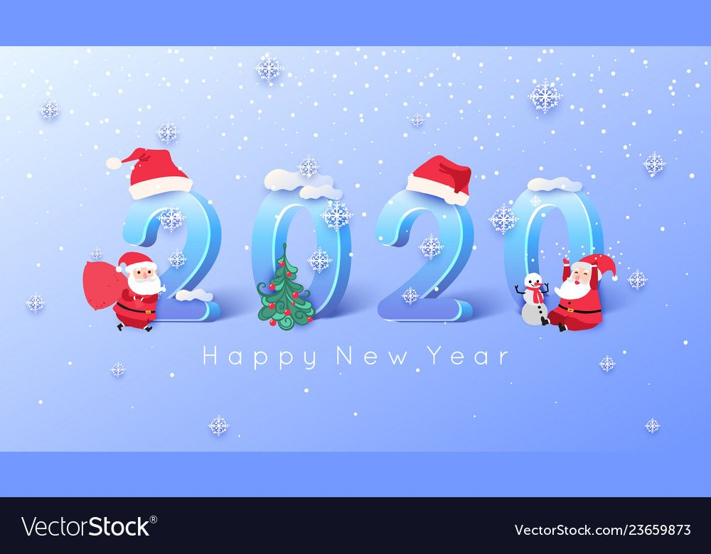 2020 Merry Christmas And Happy New Year Background Vector Image On Vectorstock Happy New Year Background Merry Christmas And Happy New Year New Years Background
