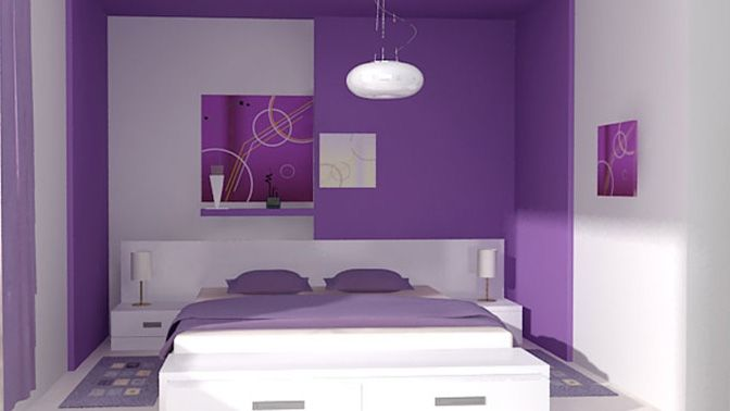 Dormitorio Moderno En Blanco Y Violeta Decoración Dormitorio Decor Bedroom White Violet Dormitorio Lila Decorar Dormitorios Colores Para Dormitorio