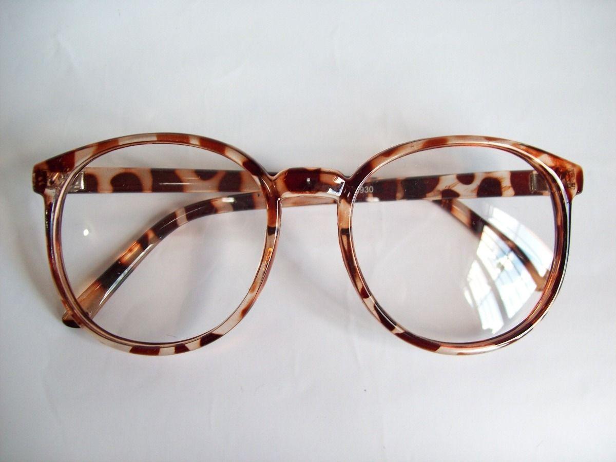 c6106558b Armação Óculos Arredontado Geek Retrô Leopardo. - R$ 35,00 no MercadoLivre
