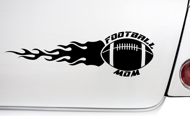 All Weather Waterproof Football Mom Flame Auto Car Decal Vinyl Etsy Vinyl Bumper Stickers Car Decals Vinyl Car Decals