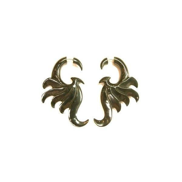 Handmade Funky Tribal Carved Phoenix Earrings ($25) ❤ liked on Polyvore featuring jewelry, earrings, fake jewelry, artificial jewellery, imitation jewellery, carved earrings and imitation jewelry