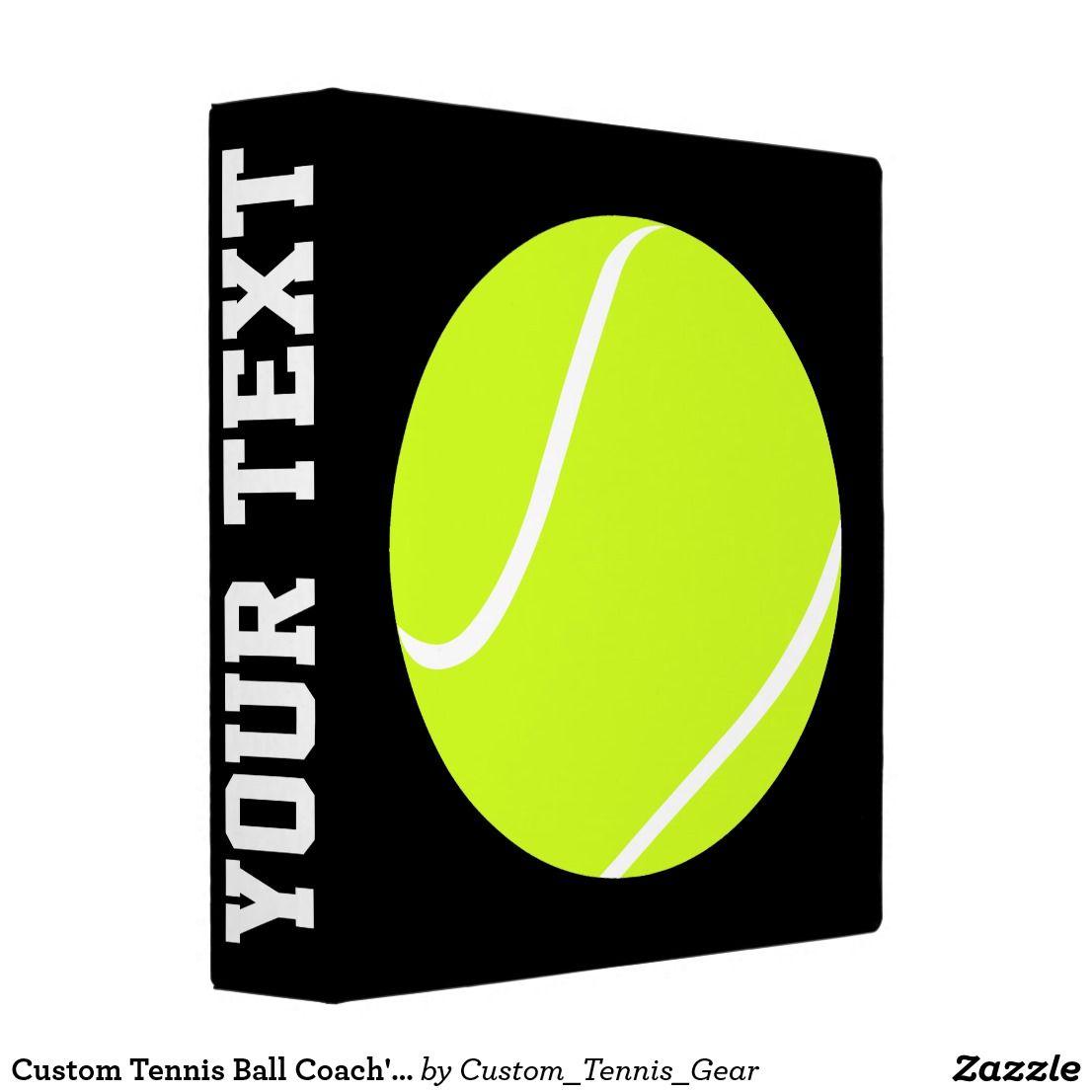 Custom Tennis Ball Coach's Binder