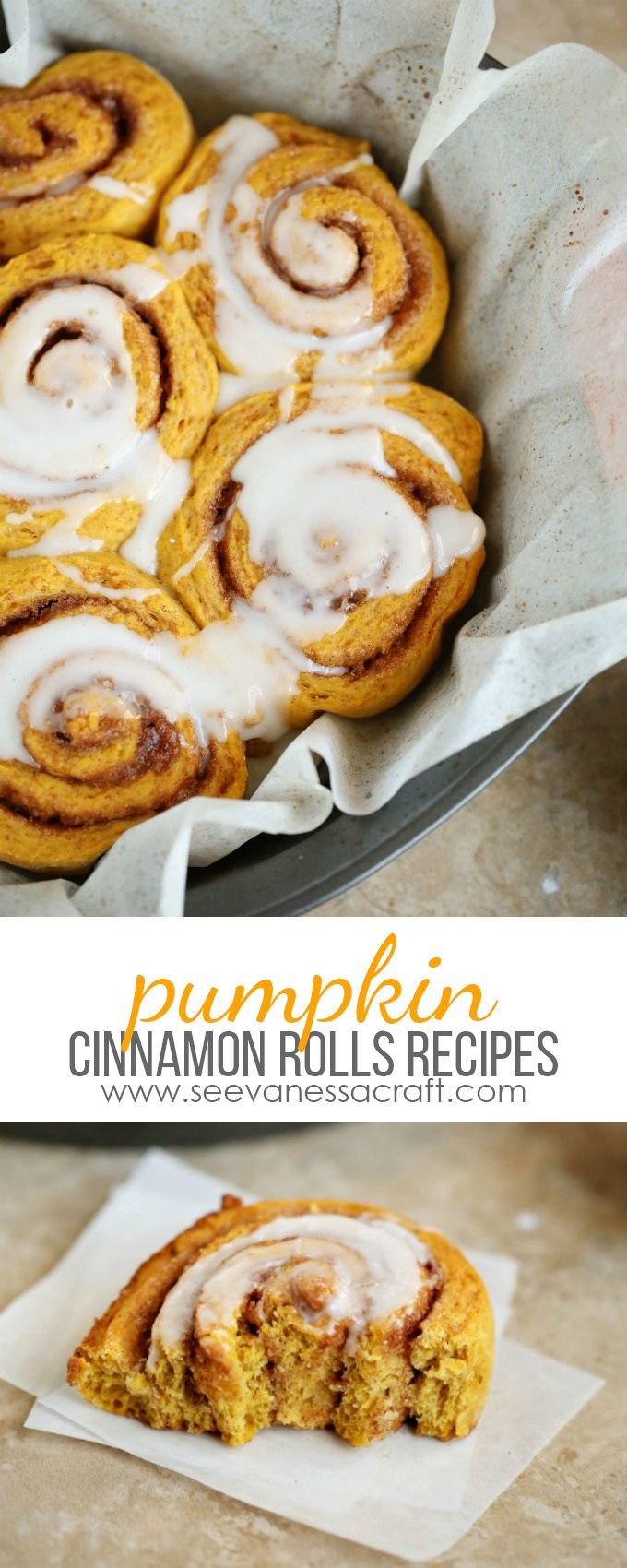 Homemade Pumpkin Cinnamon Rolls - perfect for a cold Fall day or Thanksgiving breakfast!