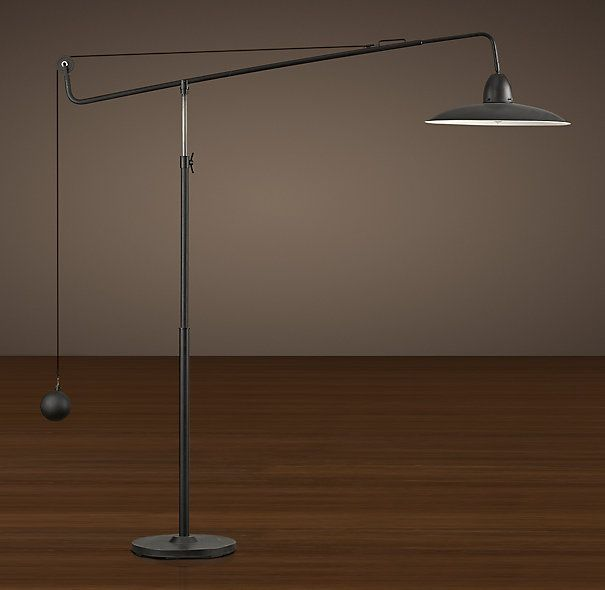1940s Architect S Boom Floor Lamp Antique Black Floor Lamp Lamp Restoration Hardware Floor Lamps