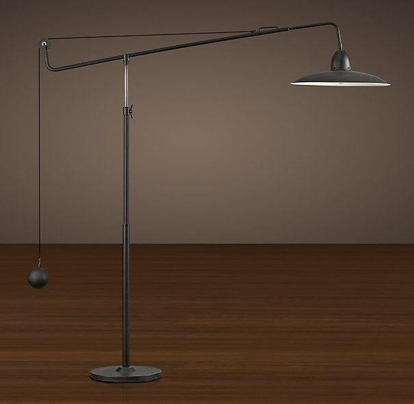 1940s Architect S Boom Floor Lamp Antique Black Floor Lamp