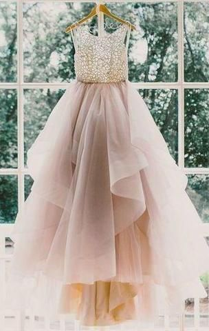 c5b6c0de32b Backless Prom Dresses Glamorous Ball Gown Lace Puffy Tulle Long Sexy Evening  Gowns For Teens Juniors Dress