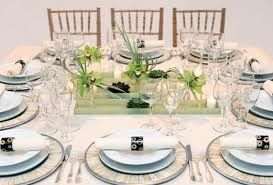 table settings for ladies luncheon -