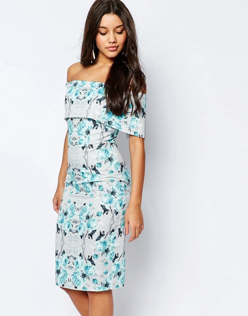 Inexpensive Summer Wedding Guest Dresses | Shoulder, Floral and Gray