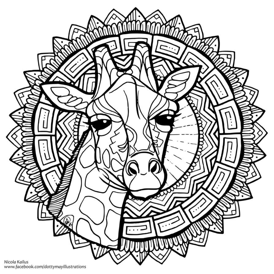 DottyMay on DeviantArt   Giraffe coloring pages, Animal ...