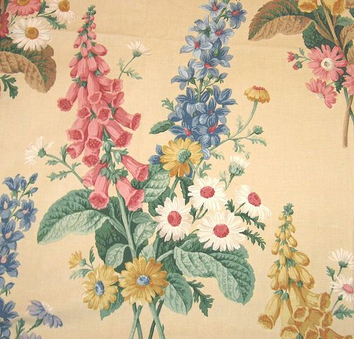 Vintage floral fabric ~ Sanderson   I Simply Must Have ... ( complete the sentence )   Telas ...