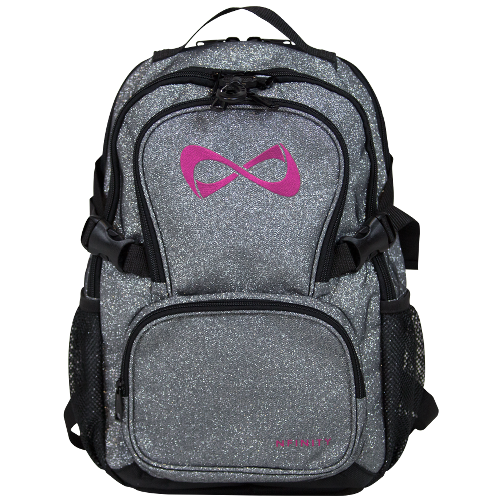 NFBPSPP630 Petite Sparkle Backpack Gray/Pink Logo *NO DISCOUNTS APPLY