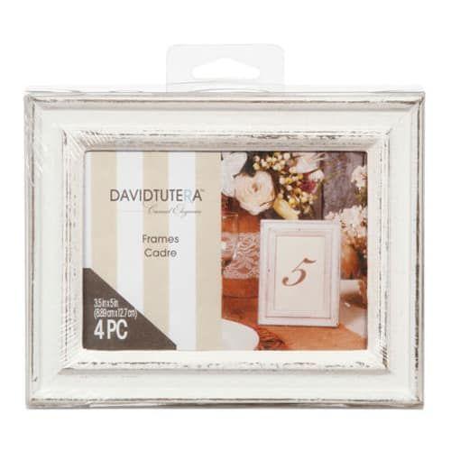 David Tutera Wedding Centerpiece Ideas: David Tutera Whitewash Picture Photo Frames 3.5 X 5 4pc In