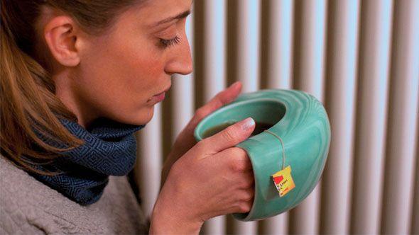 Hand-warming mug. Yes!
