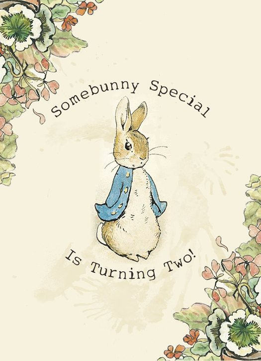 Peter Rabbit Printable Birthday Party Invitations Digital File