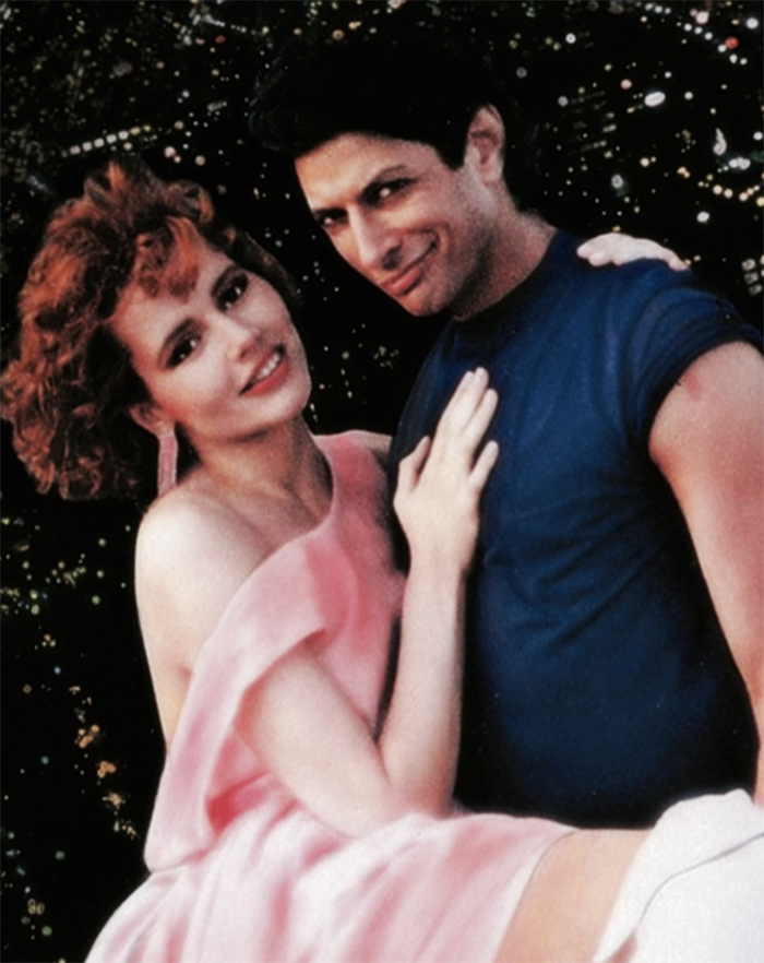 "Jeff Goldblum y Geena Davis en ""Las chicas de la Tierra son fáciles"" (Earth Girls are easy), 1988"