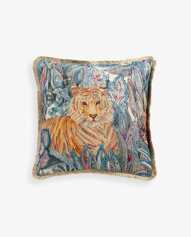 Tiger Print Cushion Cover Onward Printed Cushions Decorative