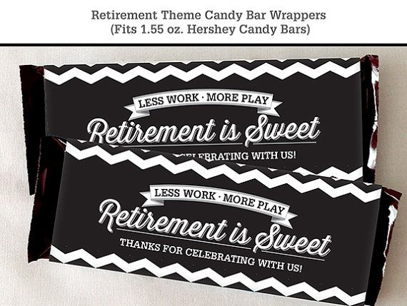 Retirement Candy Bar Wrapper Printable by LisaMariesaDesign ...