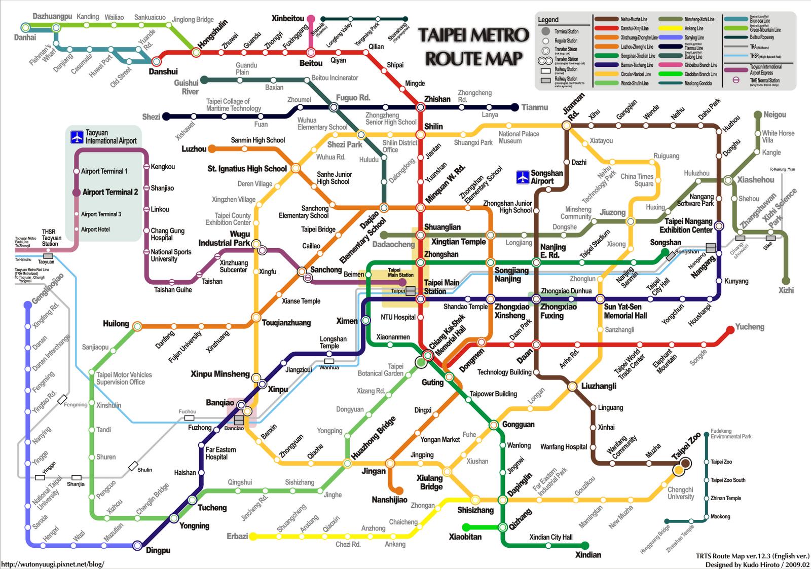 Taipei Mrt Map Pdf