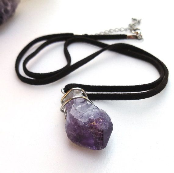 Gift for mum Wire wrapped gemstone necklace Christmas gift for girlfriend Green Amethyst Sterling Silver Necklace Amethyst necklace