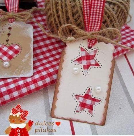 dulces pilukas Etiquetas para tus regalos de Navidad tarjetas