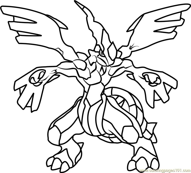 Coloring Page Pokemon Zekrom Coloring Pages Pokemon Coloring