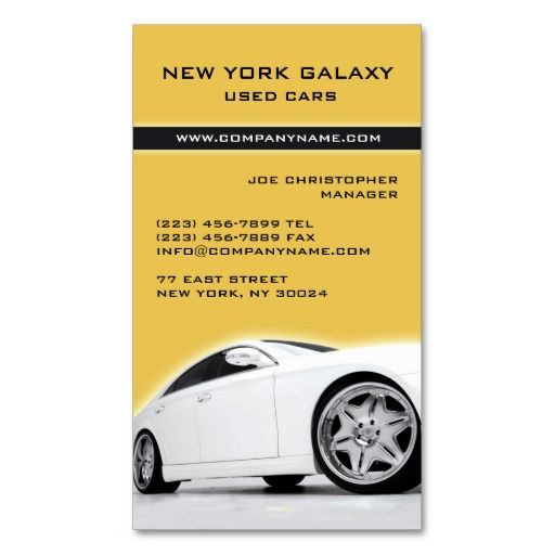Car Dealer Insurance Business Card Zazzle Com Car Detailing