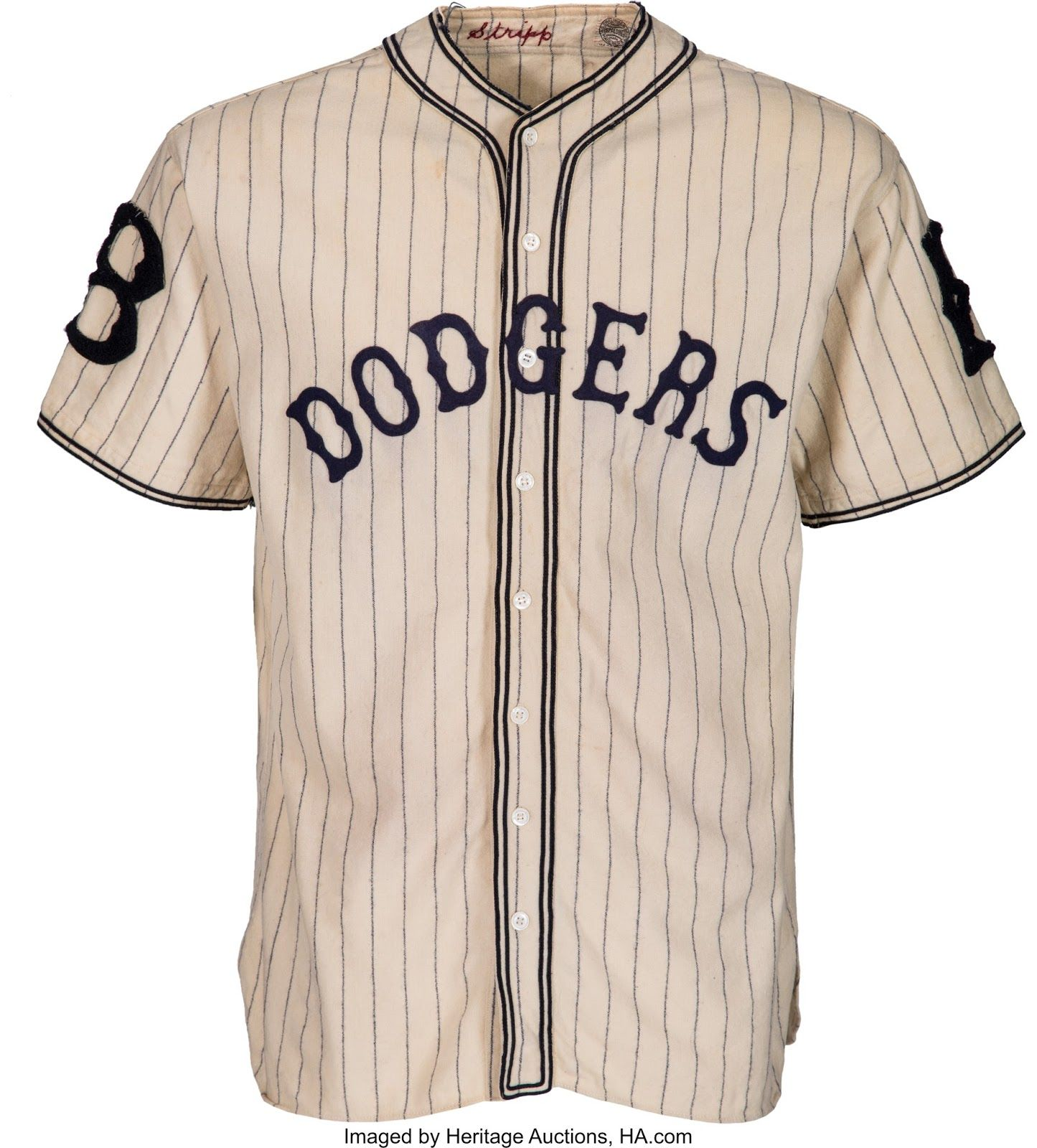 Check Out This Vintage Dodger Pinstripes Uniform 1933 Baseball Jersey Outfit Dodgers Baseball Dodgers
