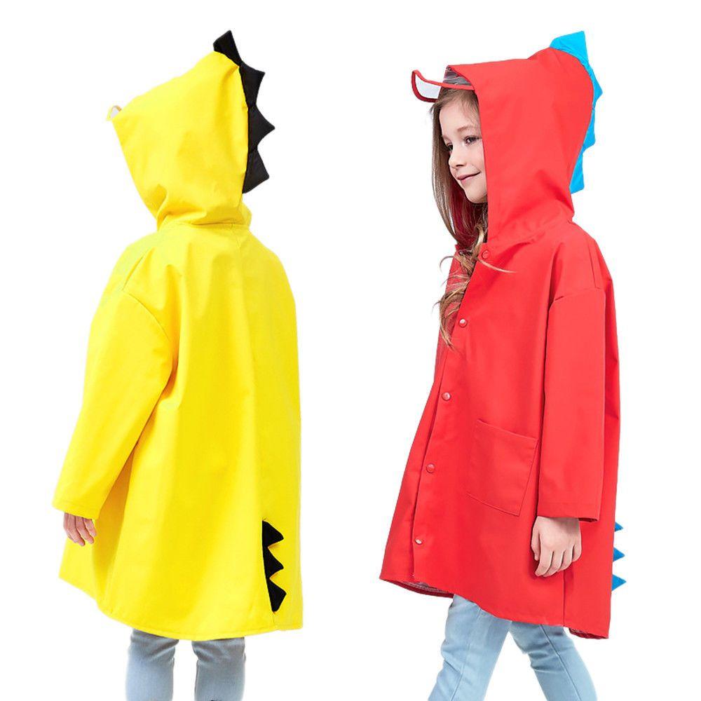 Cute Cartoon Small Dinosaur Children Raincoat Kids Rain Coat children Rainwear E