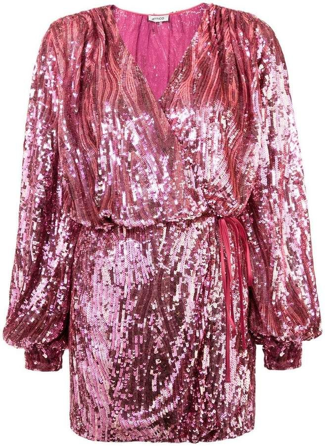 5cc6c67d8f2d5 ATTICO sequin wrap dress | Products in 2019 | Dresses, Sequin dress ...