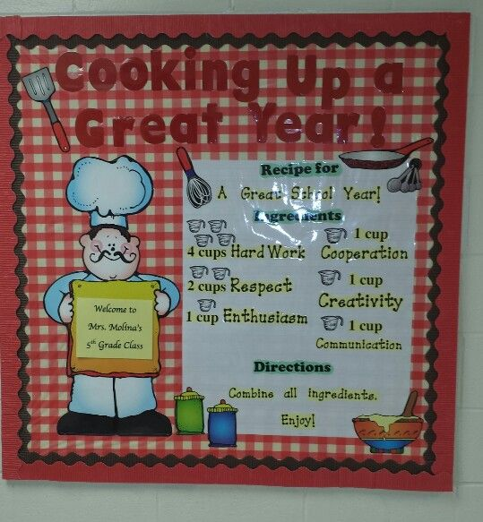 Classroom Cooking Ideas ~ Cooking up a great year teaching and classroom ideas