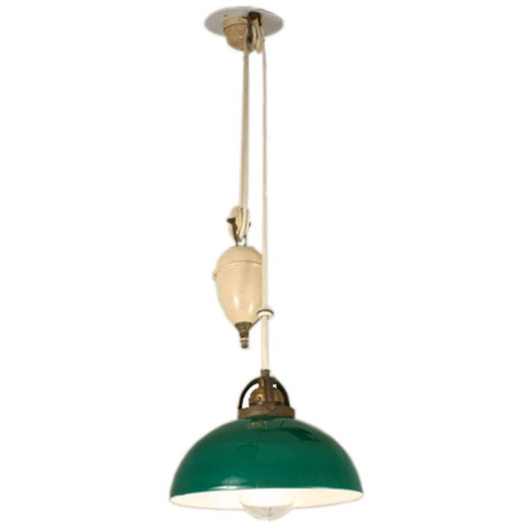 Adjustable Height Hanging Light With Counter Weight From A