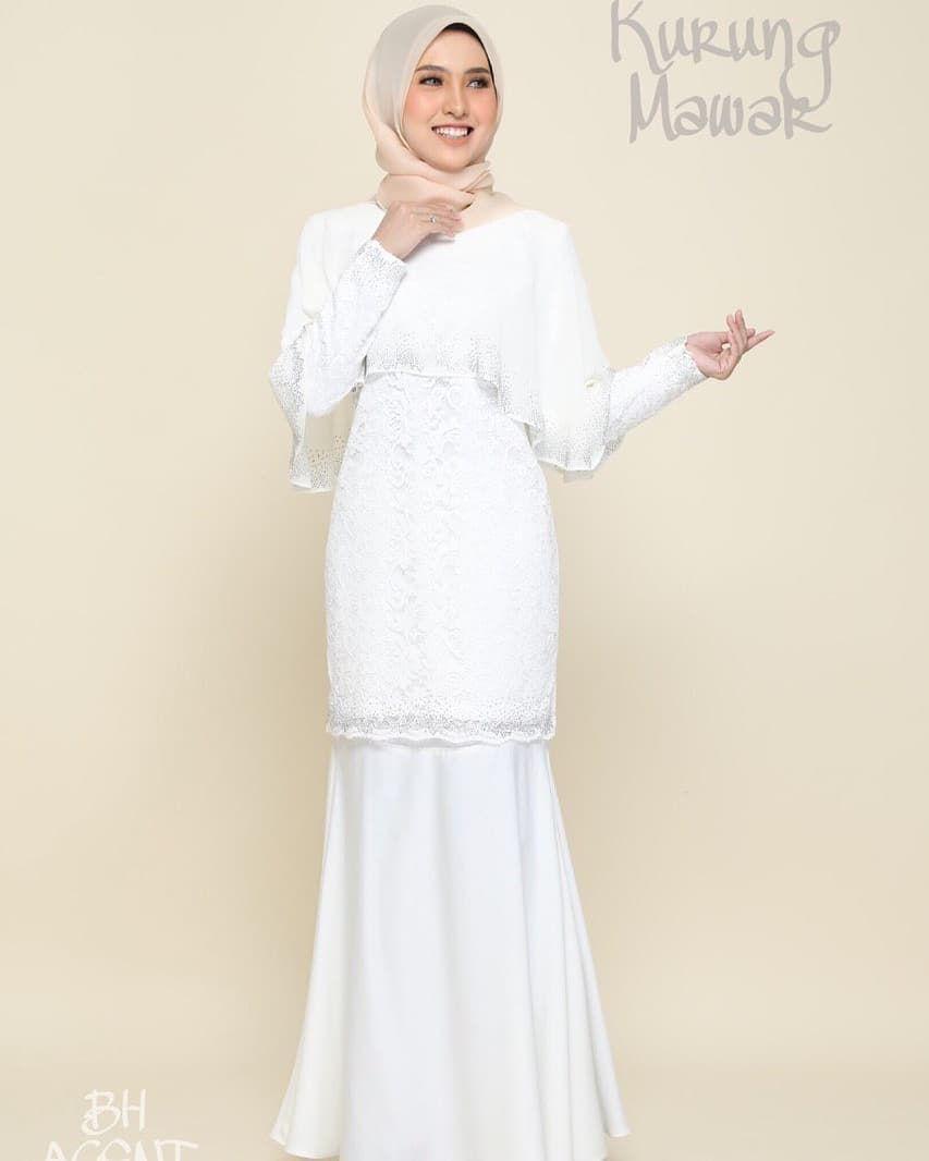 Kurung Mawar Lace Material Wedding Dresses Pinterest Dresses Baju Kurung Lace