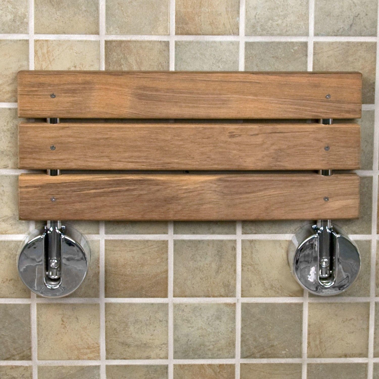 Teak Modern Folding Shower Seat | home improvement | Pinterest ...