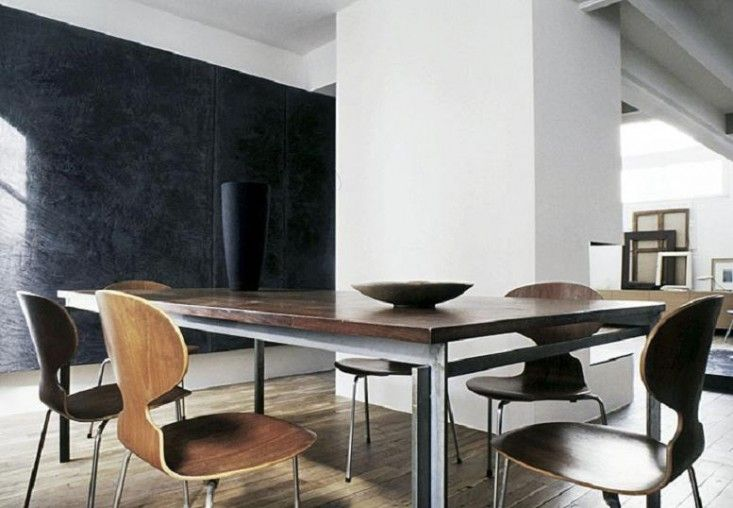 Moody Black Paris Apartment, 12 Favorite French Dining Rooms | Remodelista