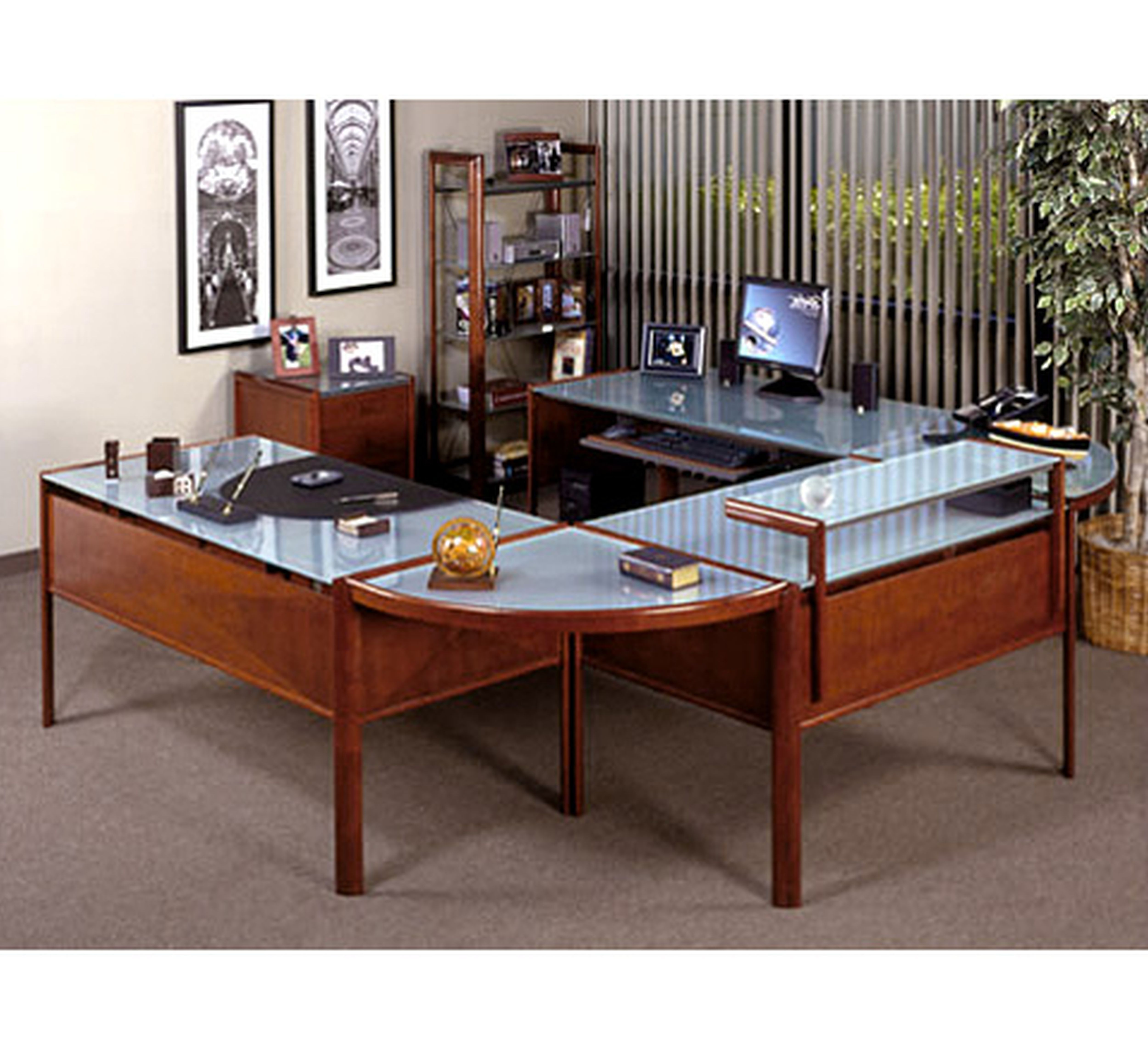 Wonderfull Home Desk Furniture  Office Space Interior Design Ideas