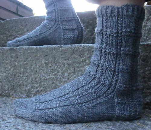 Free Knitting Patterns For Socks Using Worsted Weight Yarn : This is an adaptation of Quintessence Sock pattern to worsted weight yarn. Pl...