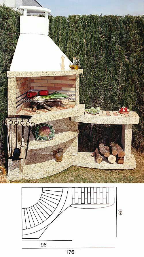 Asador tere asadores de patio asadores para jardin y for Jardineria al aire libre casa pendiente