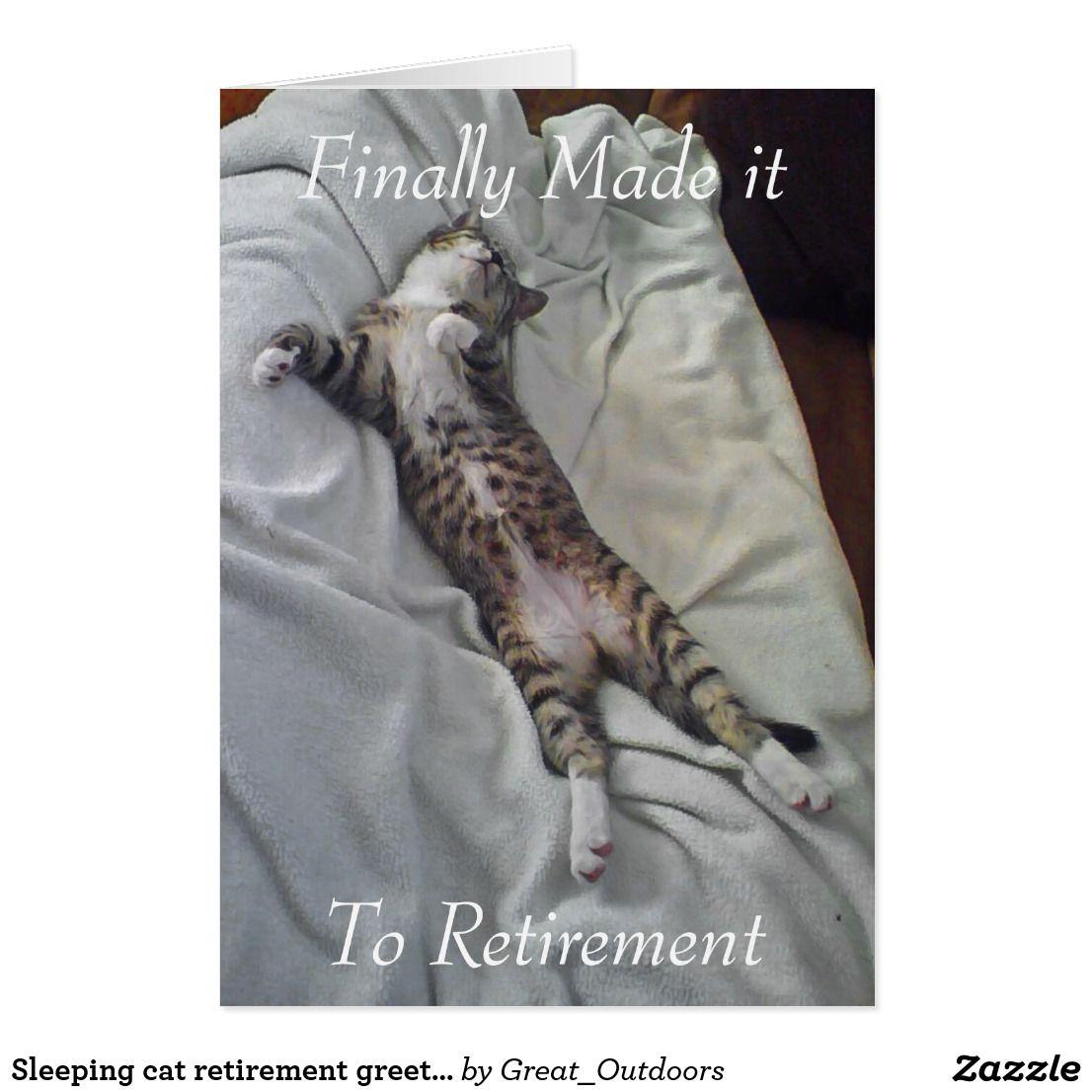 Sleeping cat retirement greeting card retirement greetings sleeping cat retirement greeting card kristyandbryce Images