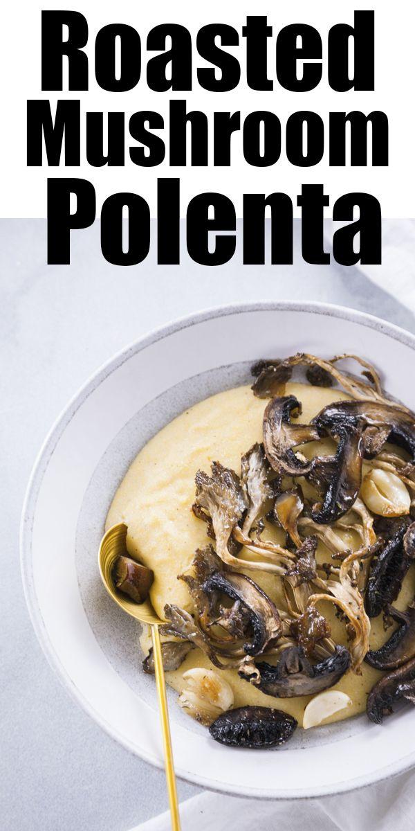 Roasted Mushrooms with Creamy Polenta images