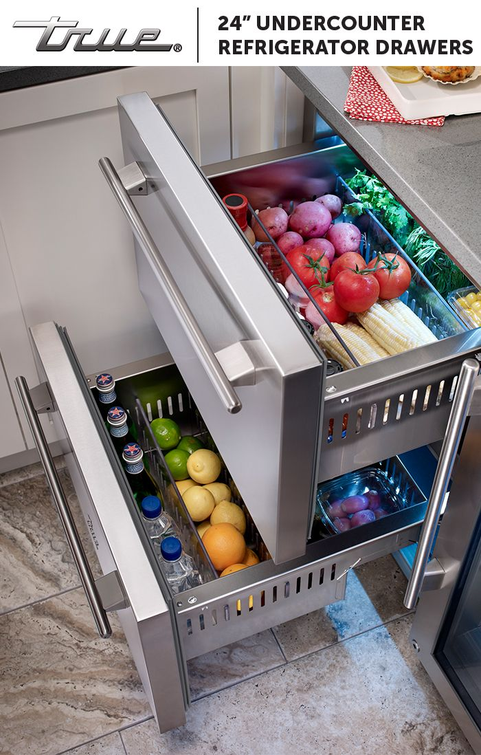 True Undercounter Refrigerator Drawers Are Rated To Meet Real Day Food And Beverage Storage Preservation Needs From Fresh Vegetables For The