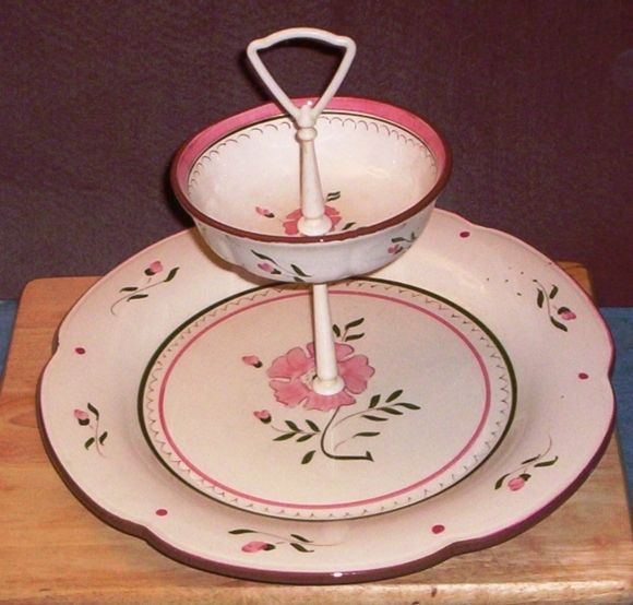 Stangl colonial rose two tiered tidbit server From Aunt Fannie & Stangl colonial rose two tiered tidbit server From Aunt Fannie ...