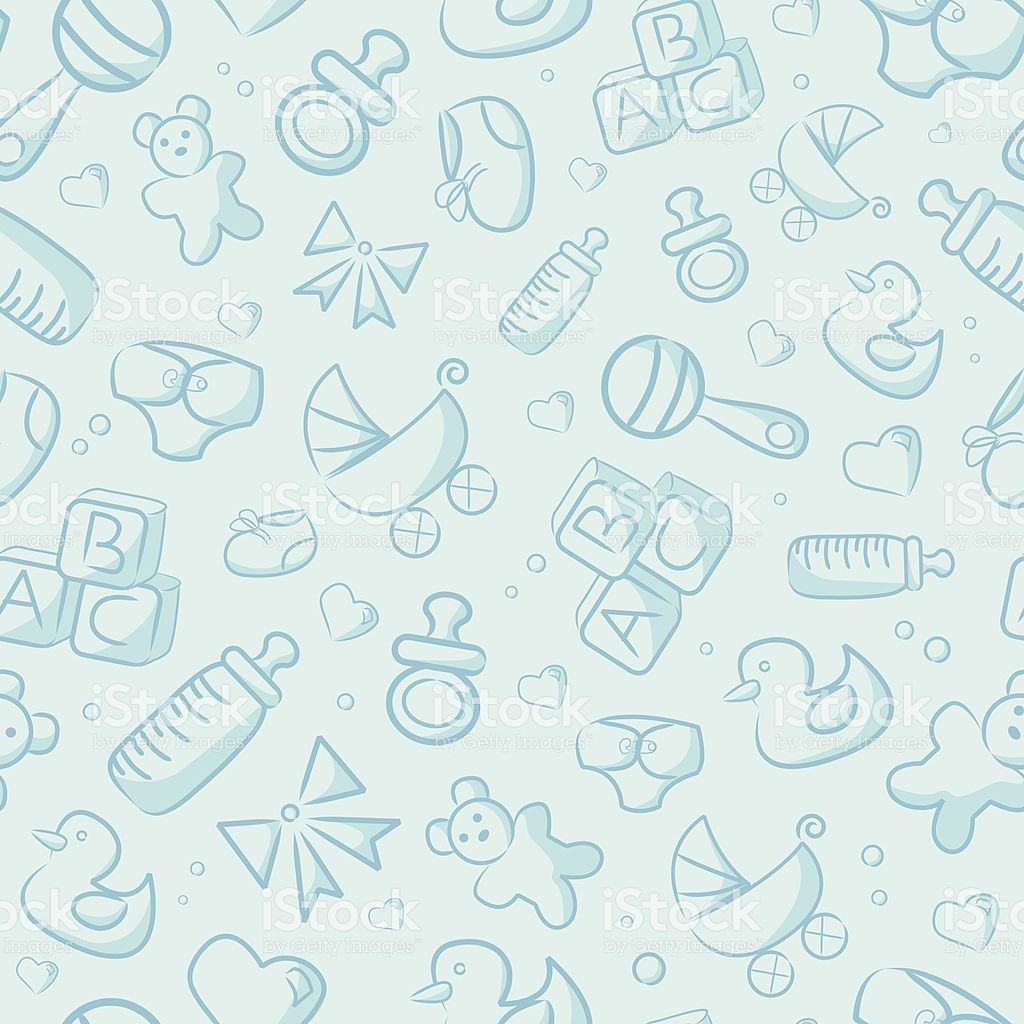 Seamless Blue Baby Background Stock Illustration Download