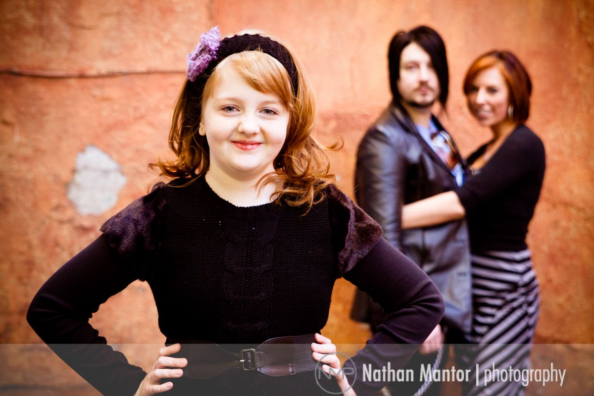 Downtown nashville family session real estate
