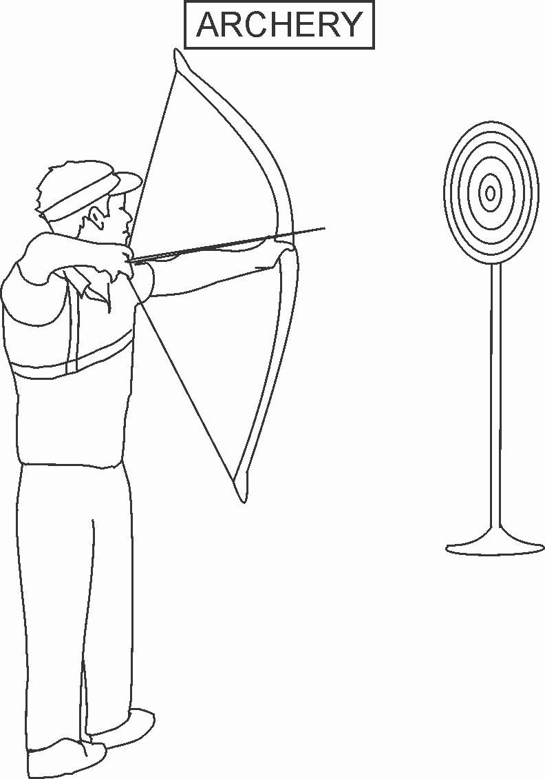 Bow And Arrow Coloring Page Luxury Archery Coloring Printable Page For Kids Coloring Pages Candy Coloring Pages Color