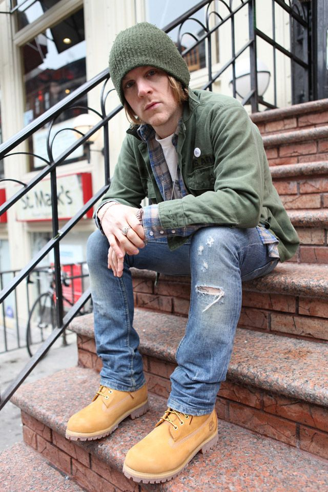 olive drab Les timberland yellow boots version grunge